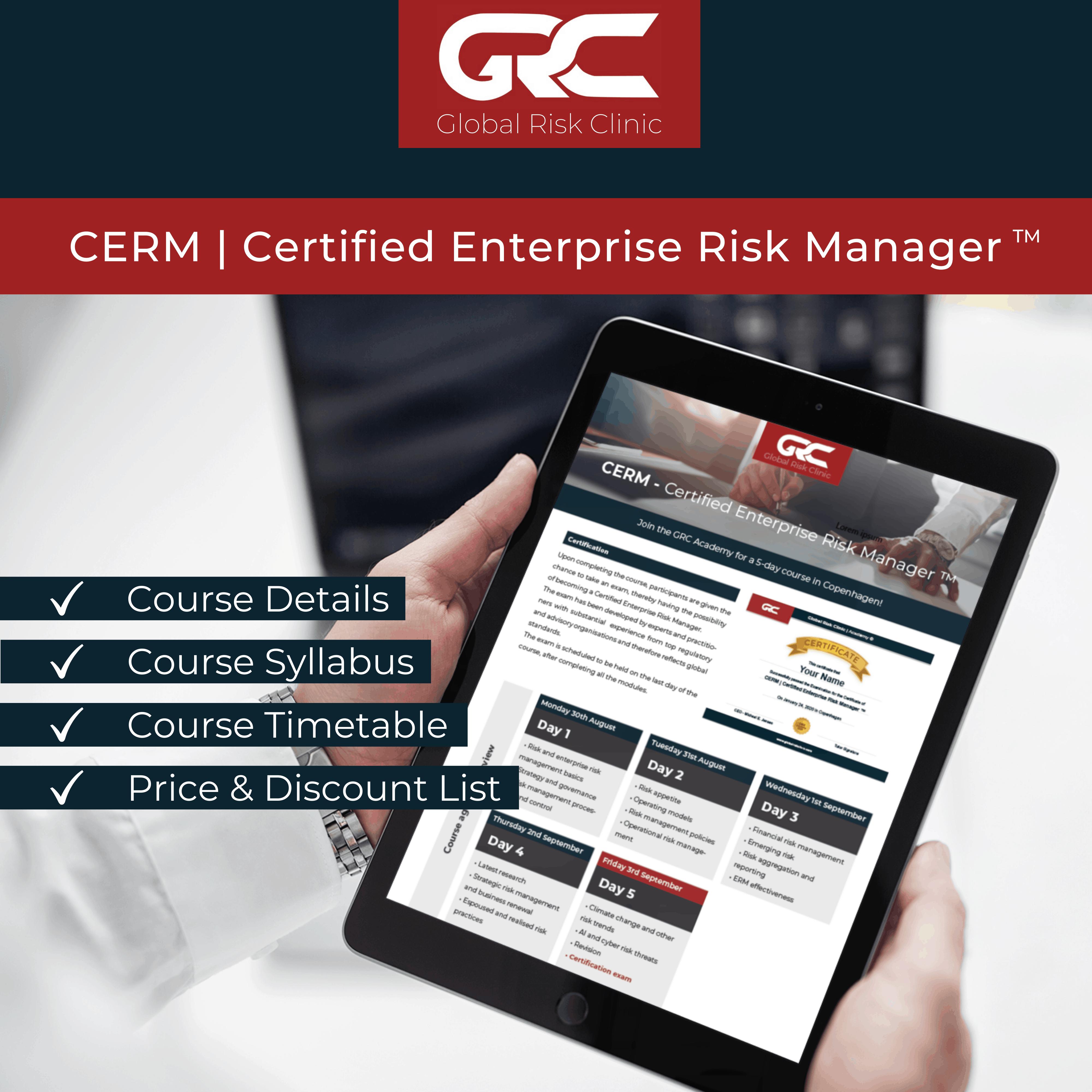 Certified ERM Download Brochure Website